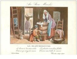 Chromos. N° 34104 La Blanchisseuse .au Bon Marché.publicité. 16  X 11.5 Cm - Au Bon Marché