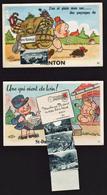 Cartes à Système: Lot De 2 Cartes écrites, Une De Menton (2 Petites Photos Seulement), Une Autre.............. - Menton