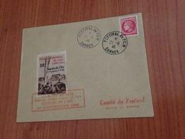 CANNES -FESTIVAL INTERNATIONAL DU FILM 1947-  Journée De L'air 22 Septembre ( Port à Ma Charge - Erinnophilie