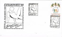 33652. Carta Exposicion SEVILLA 1999. Exfildeporte 99, Campeonato Atletismo - 1931-Hoy: 2ª República - ... Juan Carlos I