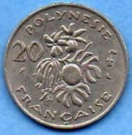 R13/ FRENCH POLYNESIA / POLYNESIE  20 Francs 1967 - Polynésie Française
