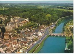 SAINT AIGNAN SUR CHER (41.Loir Et Cher) Vue Générale Aérienne. Château, Pont Sur Le Cher, Piscine - Saint Aignan