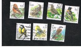 BELGIO (BELGIUM)   - SG 3538.3545   -  2000    BIRDS       - USED - Bélgica