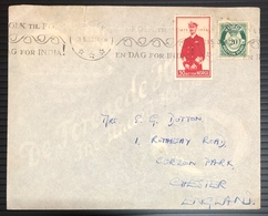 Norway 1953 Cover Slogans Cancel En DAG For INDIA INDIAN Theme On Foreign - Norway