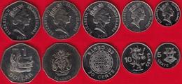 Solomon Islands Set Of 5 Coins: 5 Cents - 1 Dollar 2005 UNC - Salomonen
