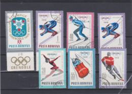 Romania 1968 Grenoble Olympic Games 7 Vals Used (H57) - Winter 1968: Grenoble