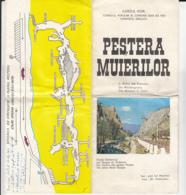 7310FM- TOURISM BROCHURES, THE YELLOW RIVER'S GORGES, THE WOMEN'S CAVE PRESENTATION, ABOUT 1980, ROMANIA - Tourism Brochures