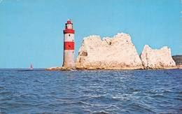"M08383 "" THE NEEDLES AND LIGHTHOUSE FROM THE SEA-I.o.W.  "" FARO- CARTOLINA  ORIG. SPED.1988 - Inghilterra"