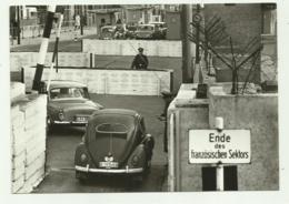 BERLIN - GRENZUBERGANG CHAUSSEESTRASSE : BLICK AUF DIE - NV FG - Muro Di Berlino