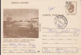 80768- BRISTOL-COANDA PLANE, AVIATION SCHOOL, PLANES, POSTCARD STATIONERY, 1996, ROMANIA - Avions