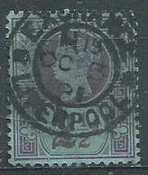 Timbre Grande Bretagne Victoria 1887 Obliteration Liverpool - Oblitérés