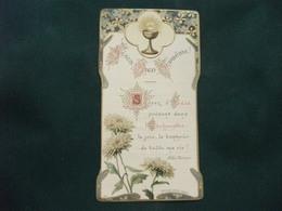 SANTINO HOLY PICTURE IMAGE SAINTE FRANCESE 1017 SOUVENIR DE LA DEUXIEME  COMMUNION  14 GIUGNO 1908 - Religione & Esoterismo