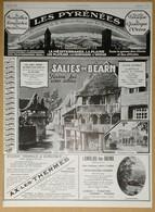 1926 Publicité Les Pyrénées Salies-de-Béarn, Ax-les-Thermes, Lamalou-les-Bains... - Publicités