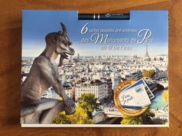 """6 CARTES POSTALES PRE TIMBREES """"Monuments De Paris Au Fil De L'eau"""" Dans Un Carnet Prêt à écrire 2018 Neuves - Entiers Postaux"""