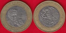 """Mexico 20 Pesos 2010 Km#943 """"Nobel Prize - Octavio Paz"""" BiMetallic - Mexiko"""