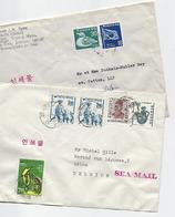 Corée Du Sud: 2 Lettres Pour La Belgique - Corée Du Sud