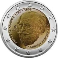 Griekenland  2019    2 Euro Commemo  Andreas Kalvos       UNC Uit De Rol  UNC Du Rouleaux !! - Griechenland