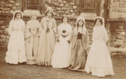 AP61 RPPC - Group Of Girls In Fancy Dress - Photographs