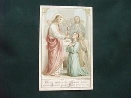 SANTINO HOLY PICTURE IMAGE SAINTE FRANCESE  M 241  SOUVENIR DE LA PREMIERE  COMMUNION - Religione & Esoterismo