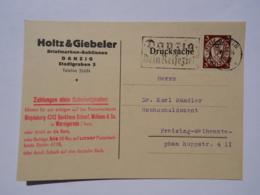 1934 DR Postkarte Pmk Danzig - Dein Reiseziel - Lettres & Documents