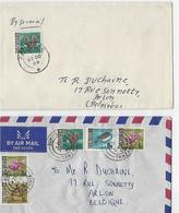 Tanzanie: 2 Lettres Pour La Belgique - Tanzanie (1964-...)