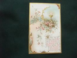 SANTINO HOLY PICTURE IMAGE SAINTE FRANCESE  1124  SOUVENIR DE LA PREMIERE  COMMUNION 14 GIUGNO 1900 - Religion & Esotericism