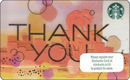 Thailand Starbucks Card Thank You -2018 - 6162 - Gift Cards