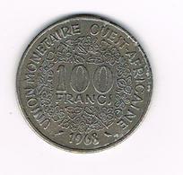 //  WEST AFRICAN STATES  100 FRANCS  1968 - Centrafricaine (République)