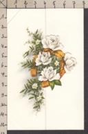 96776/ MARIAGE, Vermählung, Roses Et Fer à Cheval, Thème Télégramme - Auguri - Feste
