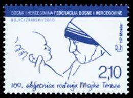 BOSNIE CROATE Mère Térésa 1v 2010 Neuf ** MNH - Bosnië En Herzegovina