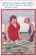 AP62 Comic/Humour - Couple In Cold Sea - Humour