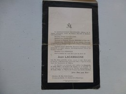 Guerre 39-45 Convoi Mortuaire Jean Lacassagne Mort à Buchenwald, 1945,  Ref 422 ; PAP04 - Historische Documenten