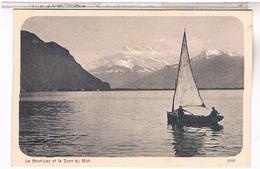 SUISSE  Geneve  Barque Du Lac Leman Haut Du Lac Dent Du Midi Su99 - GE Genève