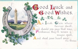 AS70 Greetings - Good Luck And Good Wishes - Irish Postcard - Holidays & Celebrations