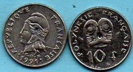 R13/  FRENCH POLYNESIA / POLYNESIE  10 Francs 1991 - Polynésie Française