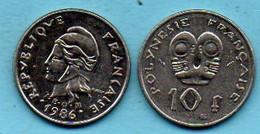 R13/  FRENCH POLYNESIA / POLYNESIE  10 Francs 1986 - Polynésie Française