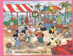Disney DOMINICA Christmas Series 1988 - 6 $ SHEET MNH - Disney
