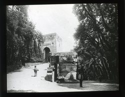 Gate Alhambra, Granada SPAIN - Magic Lantern Slide (lanterne Magique) - Glass Slides