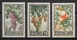 ALGERIE     -   1950 .   Y&T N° 279 à 281 **.  Raisin / Dattes / Oranges  / Citrons.   Série Complète. - Algerien (1924-1962)