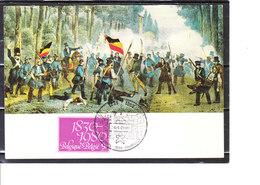 1961 150éme Anniversaire De L' Indépendance De La Belgique - Bruxelles,combats De Rue Qui Préludèrent à L'Indépendance - Maximum Cards