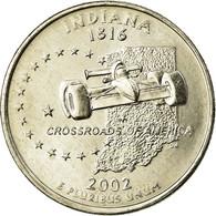Monnaie, États-Unis, Indiana, Quarter, 2002, U.S. Mint, Denver, SPL - 1999-2009: State Quarters