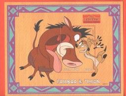 Disney SIERRA LEONE Pumbaa & Timon Lion King Series 2500 LE SHEET MNH - Disney