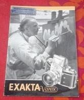 Livret Publicitaire Appareil Photo Exakta Varex Allemagne De L'Est DDR Photos Des Nations Genève - Advertising
