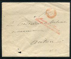 Griffe ( Bien Frappée ) Du Directeur Des Postes Au Ministère Des Finance Sur Enveloppe En 1867 - Réf AT 31 - 1849-1876: Période Classique