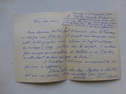Guerre 39-45 Fidèles Du Maréchal, Let Autographe Geslin Lucien, Versailles   Ref 413 ; PAP04 - Autografi