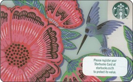 Thailand Starbucks Card Flower With Bird 2018 - 6163 - Gift Cards
