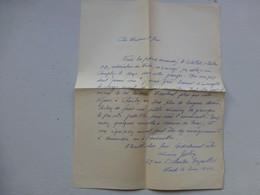 Guerre 39-45 Fidèles Du Maréchal, Let Autographe Geslin Lucien, Versailles   Ref 414 ; PAP04 - Autografi