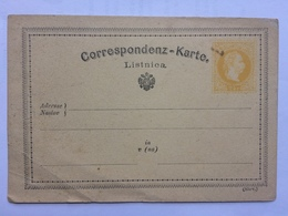 AUSTRIA 1875 Correspondenz Karte 2 Kr Yellow Unused - 1850-1918 Empire