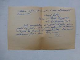 Guerre 39-45 Fidèles Du Maréchal, Let Autographe Geslin Lucien, Versailles   Ref 416 ; PAP04 - Autografi