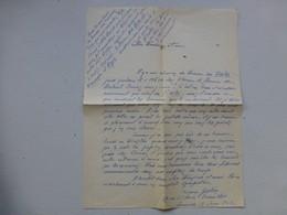 Guerre 39-45 Fidèles Du Maréchal, Let Autographe Geslin Lucien, Versailles   Ref 417 ; PAP04 - Autografi